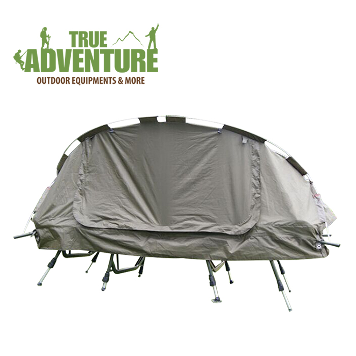 A portable folding bed for widening and widening the camp bed of exported European and American outdoor sports and recreational camp