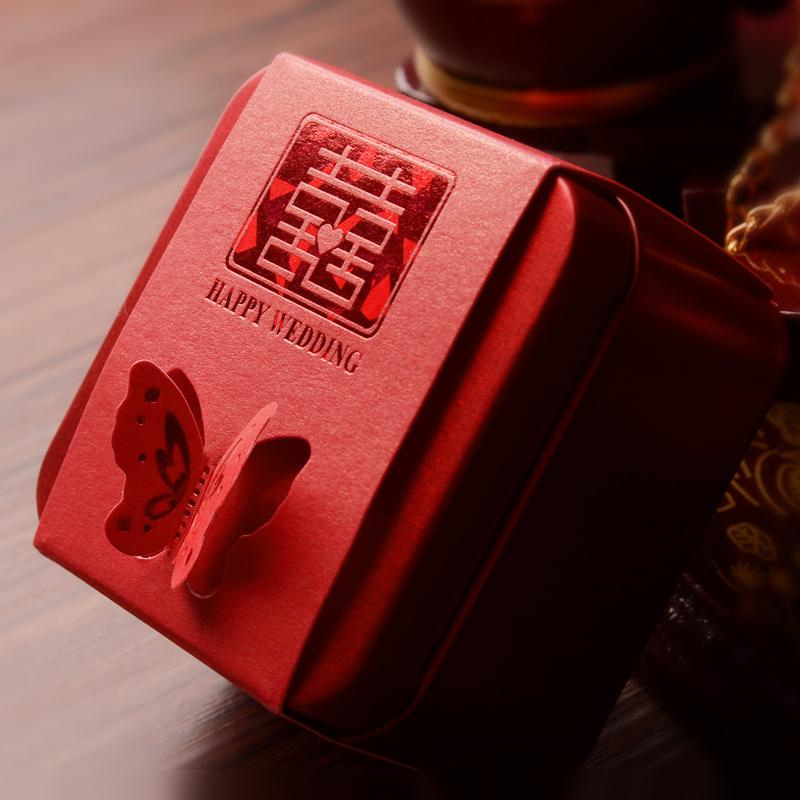 La boda de productos dulces de cajas de embalaje cajas de dulces de regalo de lujo de hojalata lata fresco viento en caja China