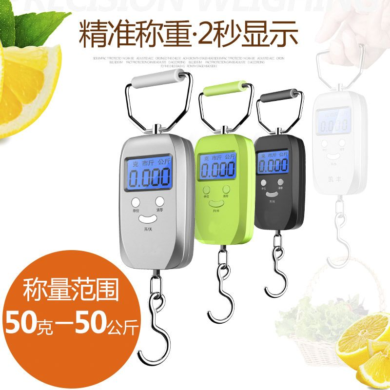 Electronic scale spring, portable kitchen scale, mechanical Mini pointer, fishing express, portable weighing luggage portable scale