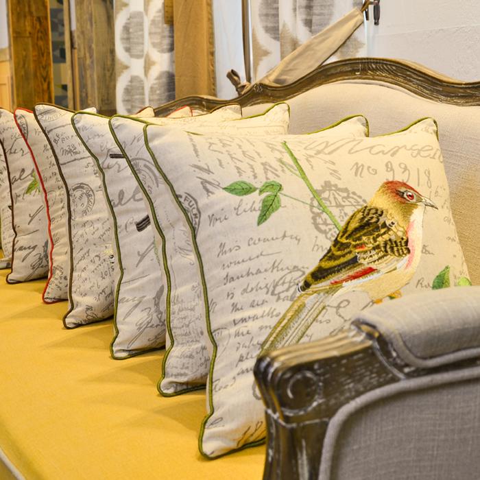 アメリカン田園麻綿刺繍枕大クッション刺繍花鳥北欧イケアクッションソファベッドでバッグ