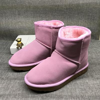 断码特价中筒雪地靴女真皮冬季加厚保暖加绒短靴冬靴女棉鞋短筒