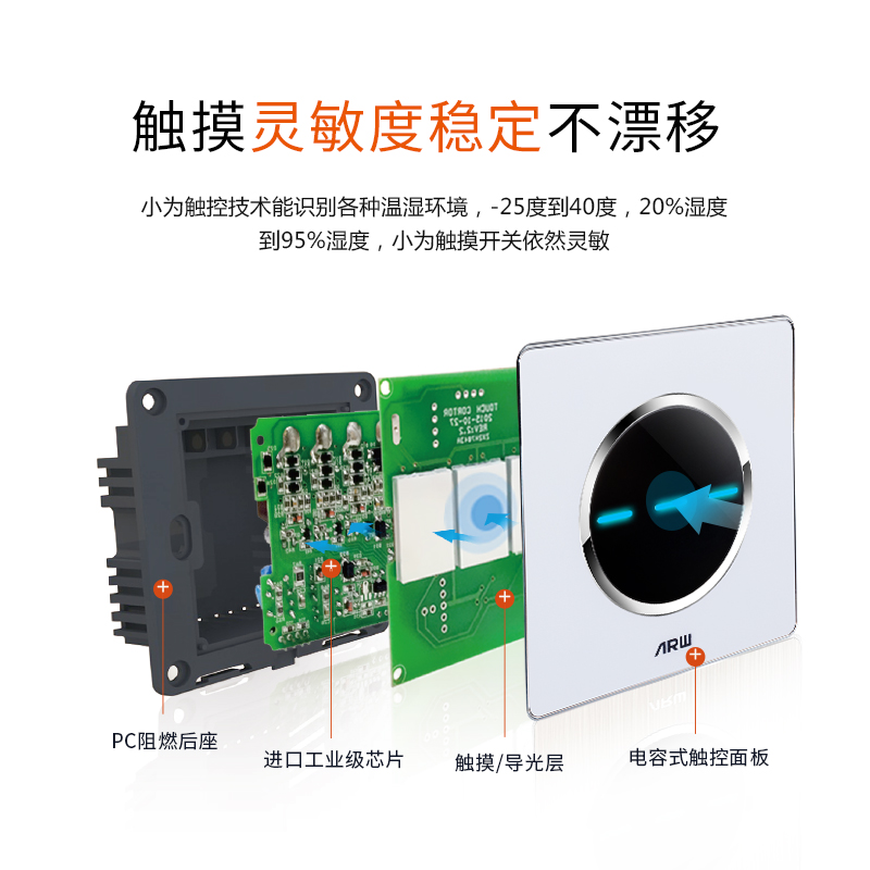 Lights, microcomputer air conditioning converter, mobile touch screen, intelligent switch, touch screen time, WiFi multi-function