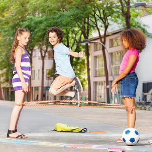 跳皮筋的橡皮筋儿童户外游戏小学生弹力跳绳女孩经典怀旧体育用品