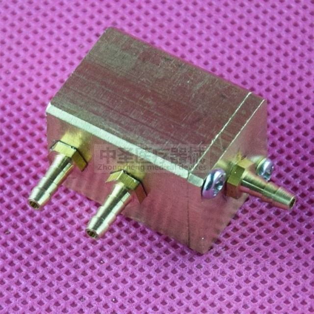 Dental dental comprehensive treatment of dental chair accessories material single - controlled square pressure water valve water gas connector