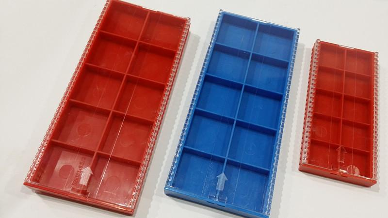 고급 수치 제어 바이트 포장 박스 장미 플라스틱 상자 톱니 모양 높은 투명 플라스틱 상자 뚜껑을 미닫이 식