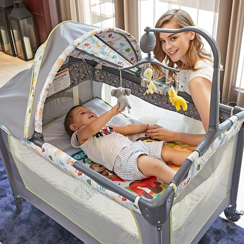 2017 πολυλειτουργικά βρεφικό κρεβάτι με δίπλωμα στο κρεβάτι μωρό μου φορητό παιχνίδι με κουνουπιέρα, το νεογέννητο.