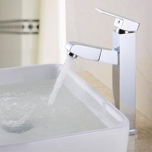 Torneira de lavatório de Cozinha lavanderia piscina parede pia lavatório torneira de Cobre do núcleo cerâmico vertical