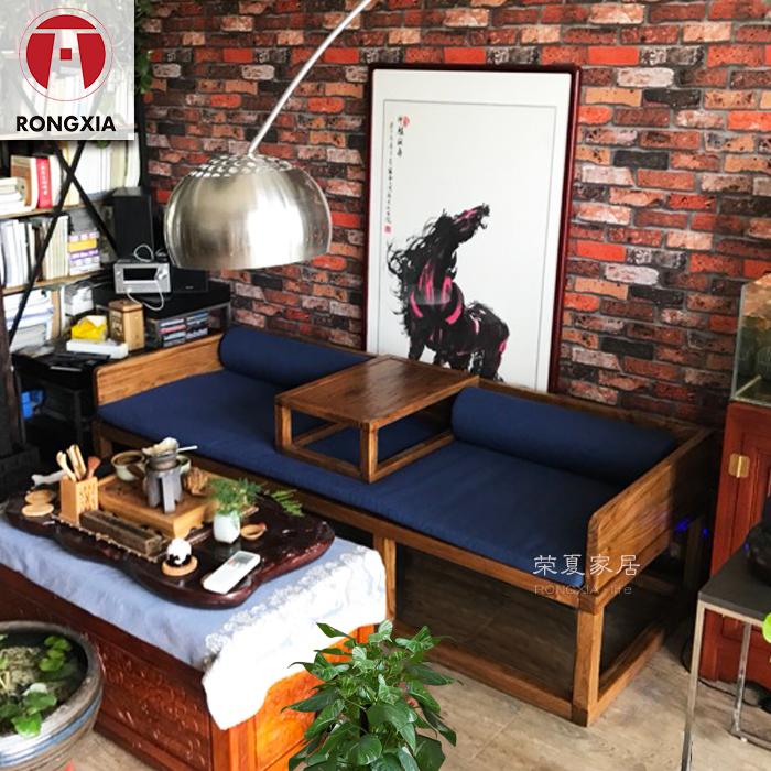 荣夏老楡羅漢の3点セット木造家具ソファーベッド簡約崩れ現代中国式卯榫美人がありません