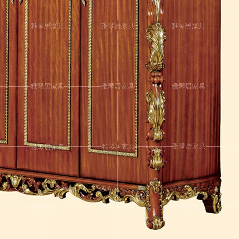L'Italie le luxe de meubles de style européen de sculpture en bois massif de l'armoire palais classique à quatre portes d'armoire Villa placard de la chambre