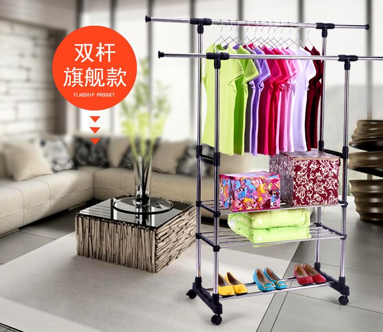 Clothes installation, baby support clothing, mobile trousers, durable clothes hanger, children's dormitory, bathroom pole, night market