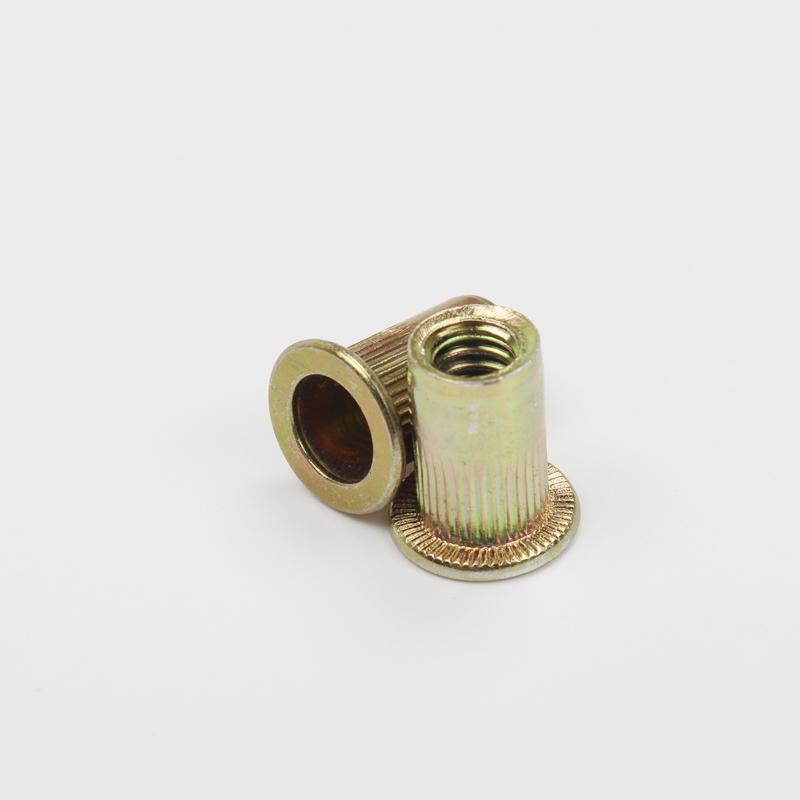 M3/4/5/6/8/10/12 flat head galvanized rivet nut flat head striped screw nut cylindrical nut