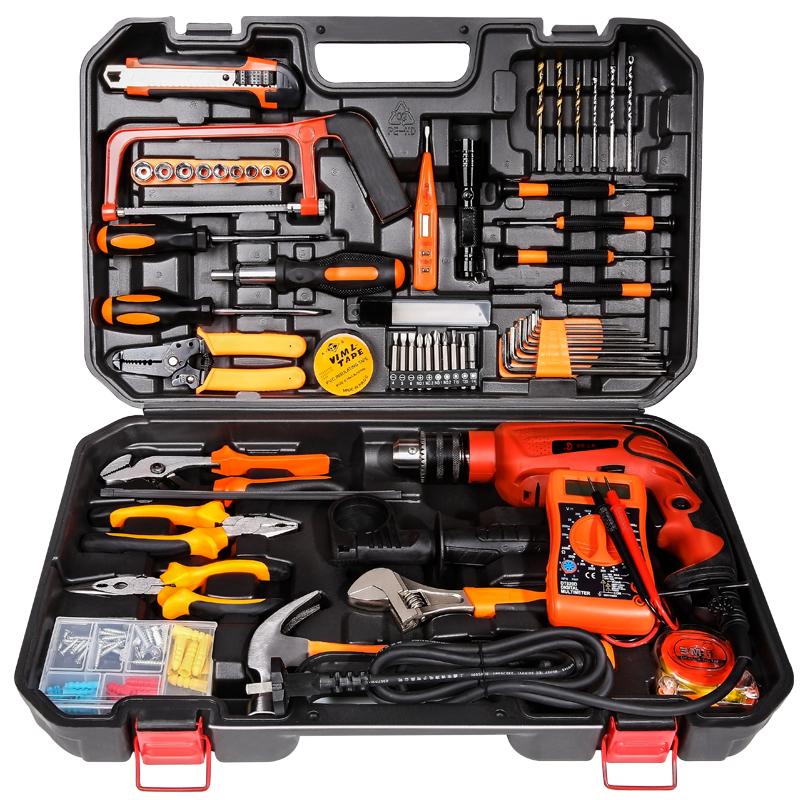 In Germania la cassetta degli attrezzi di strumenti Hardware domestici di Legno rivestiti di manutenzione Insieme completo multifunzionale, accusato di esercitazione