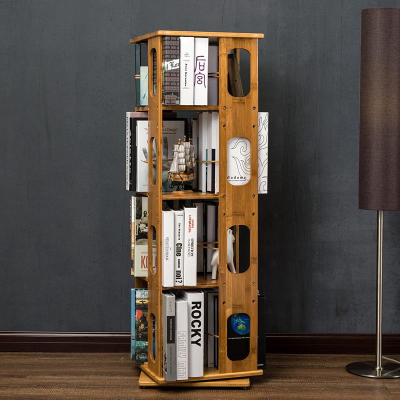 pri odraslih je majhno stanovanje v kombinaciji preprosto moderne večnamensko rotirajoče police MMR15 bambus, prostor za knjižno omaro.