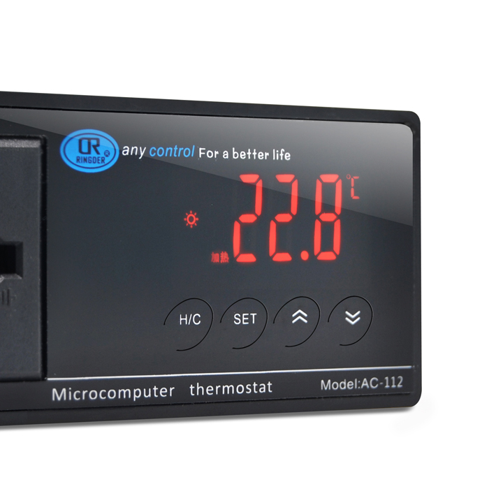 Electronic digital aquarium thermostat thermostat aquarium pet tortoise crawler thermostat heating AC-112