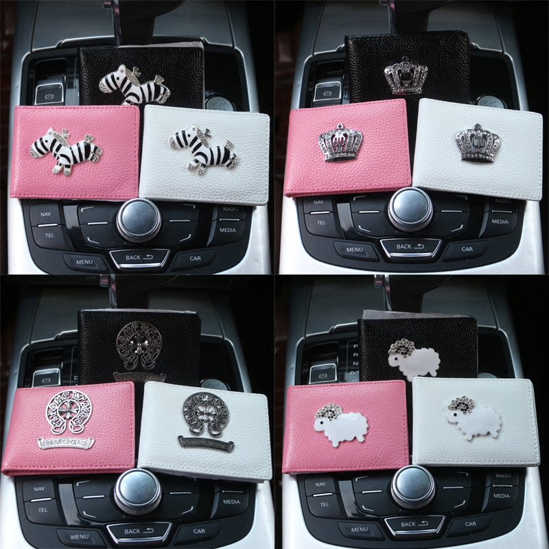 Cute cartoon diamond driving license, driving license license set jacket leather women's driver's license of the driver's license