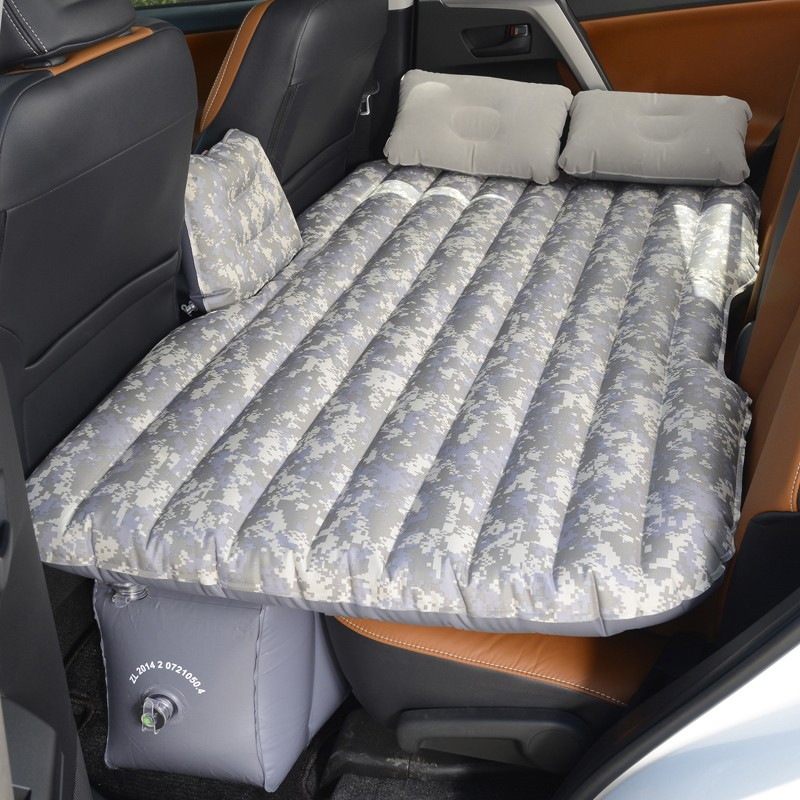 Special inflatable vehicle mounted traveling mattress for rear of general car of small car