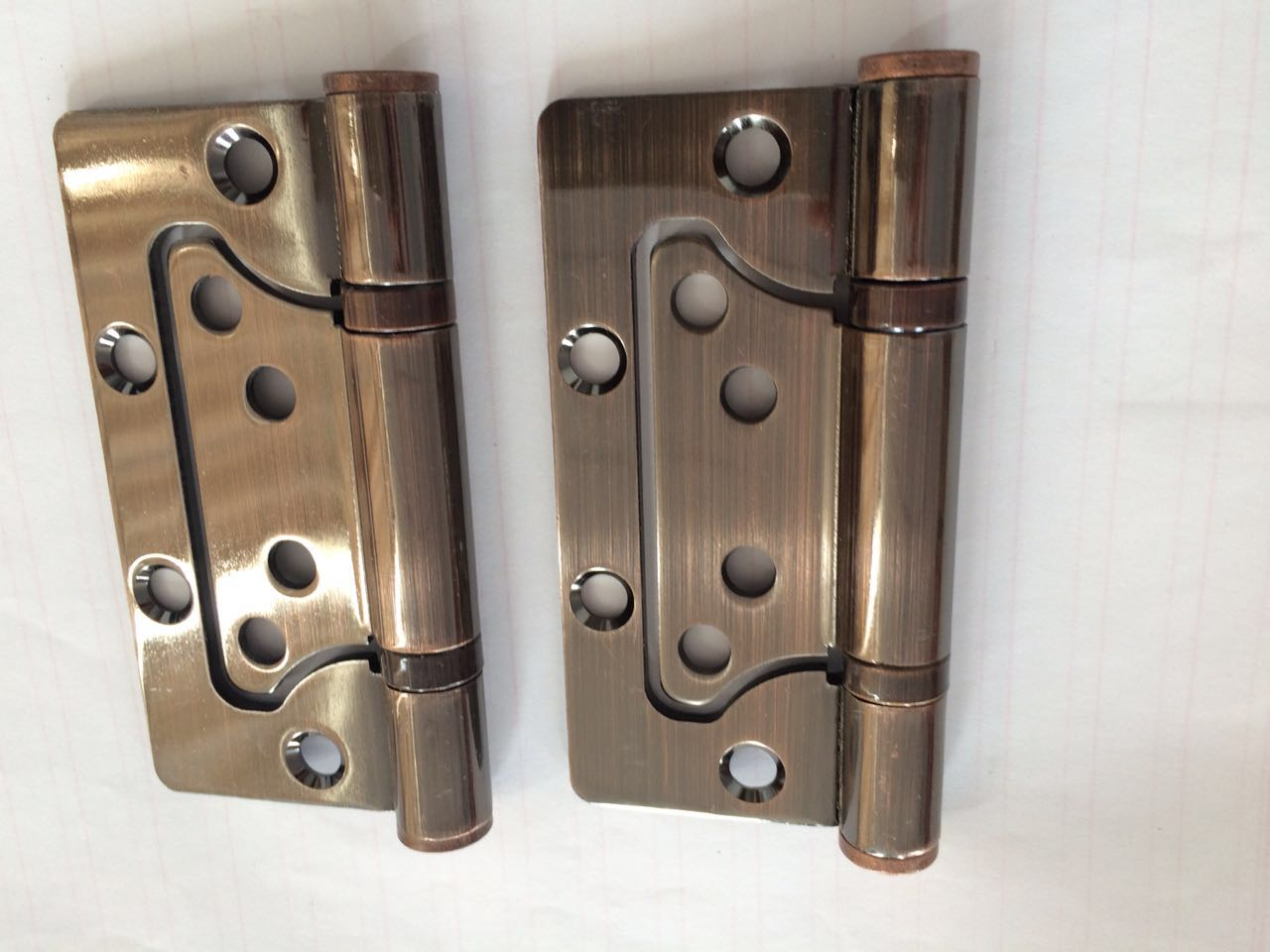Red bronze hinges 4 inch wooden doors, interior doors bearing sheet 4*3mm butterfly hinge free slot