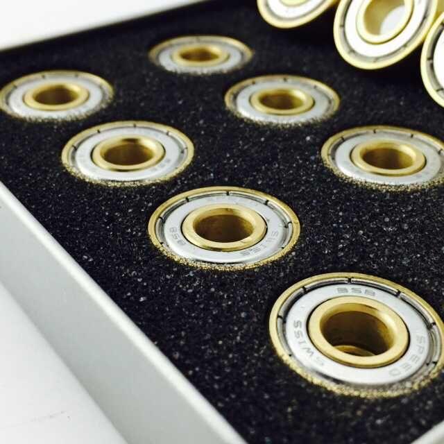 Genuine -11 vòng bi vàng tốc độ cao 608ZZ inline skates trượt ván trượt băng giày trượt giày trượt giày lăn