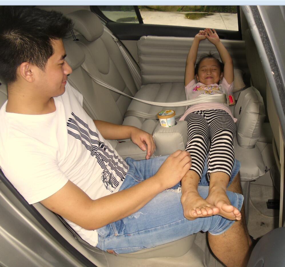 Vehicle inflatable bed mattress children folding travel driving seat bed mattress bed car rear car supplies