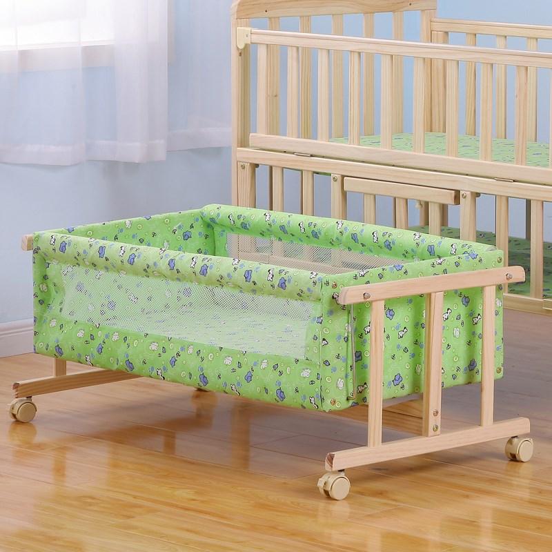 postýlka, nový zéland dovezené dřevo do malé dítě do postele postel, postel bb 工字 paralelní kolíbky poslala sítě