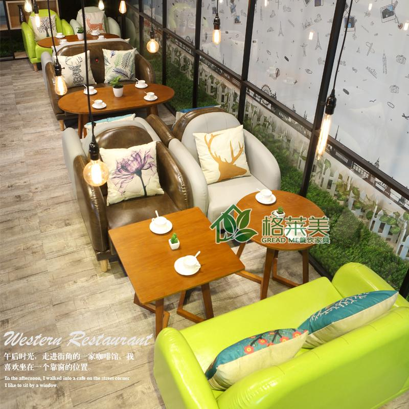 Scandinavian Leisure cafe ngập nhà hàng món tráng miệng Trà sữa hàng ghế chủ đề kết hợp ghế gỗ thật đấy