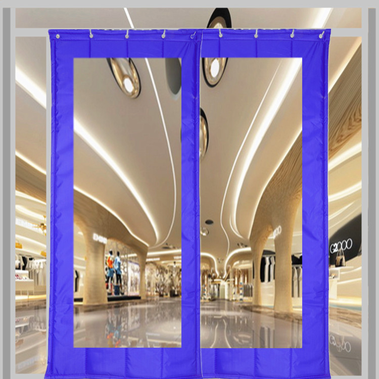 Custom made cotton door curtain, winter thickening, insulation, windproof, sound insulation, household partition, wind proof, cold proof bedroom transparent door curtain