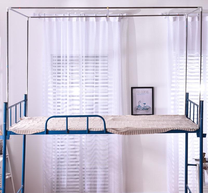 El dormitorio de las niñas de la cortina de acero inoxidable de dormitorio cama dormitorio cortinas, cortinas, cama cama soporte de apoyo a la Universidad.