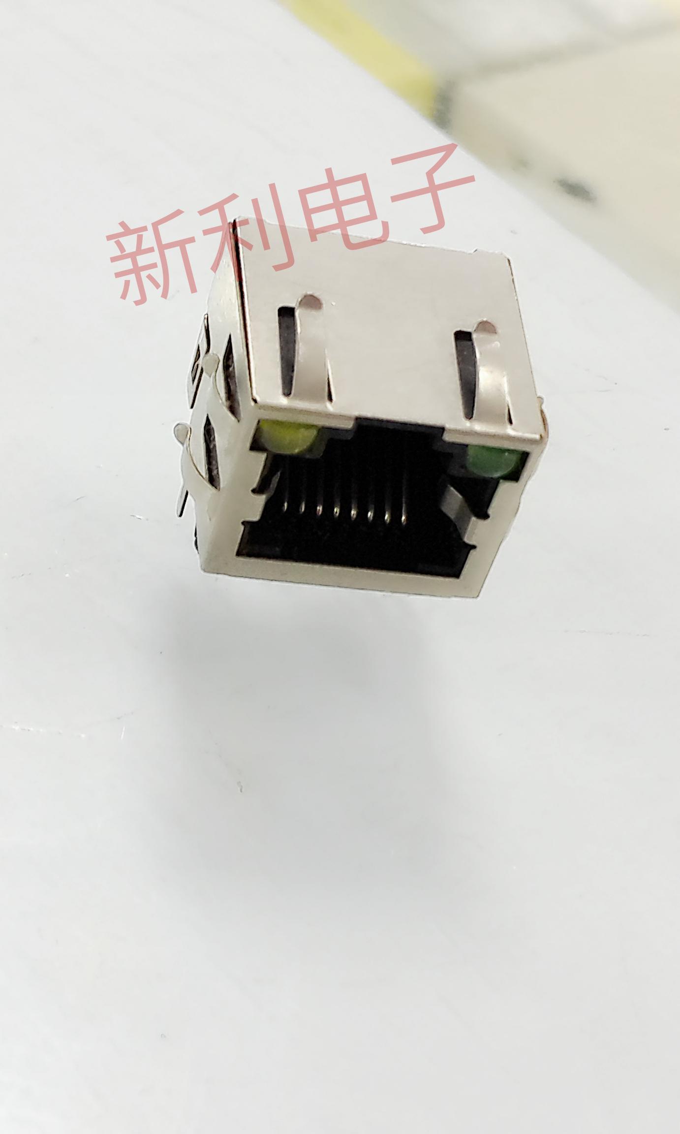La lampada |RJ45 presa con schegge di interfacce di Rete via Cavo ha portato / presa / rete di Testa 8P8C