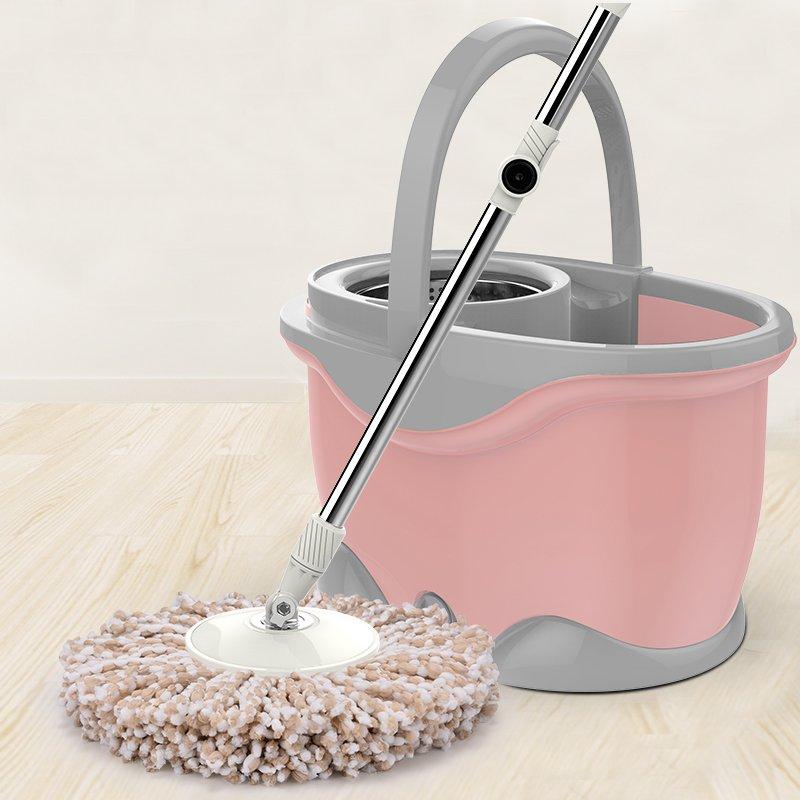 Stainless steel mop bucket rotary mop mop mop holder automatic swing water mop