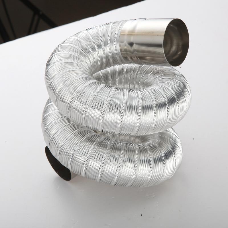 رقائق الألومنيوم تلسكوبي أنابيب العادم العادم سخان المياه 5-6-7-8cm أنبوب العادم خرطوم الغاز الماء الساخن