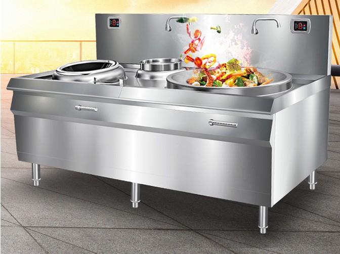 La fábrica de electrodomésticos más carne comercial restaurante Wok caliente a fuego alto horno empotrado estufa de gas electromagnética combinada