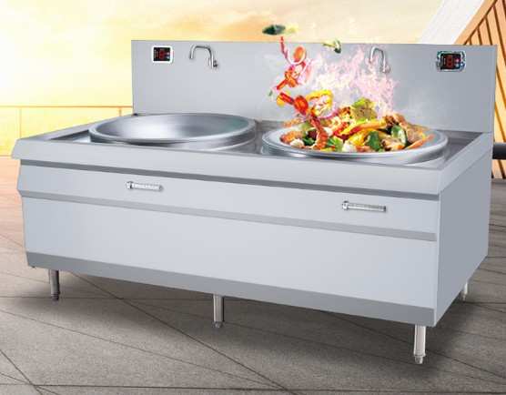 School desktop circular electromagnetic oven power boiler vertical Hot pot restaurant round household electric fryer