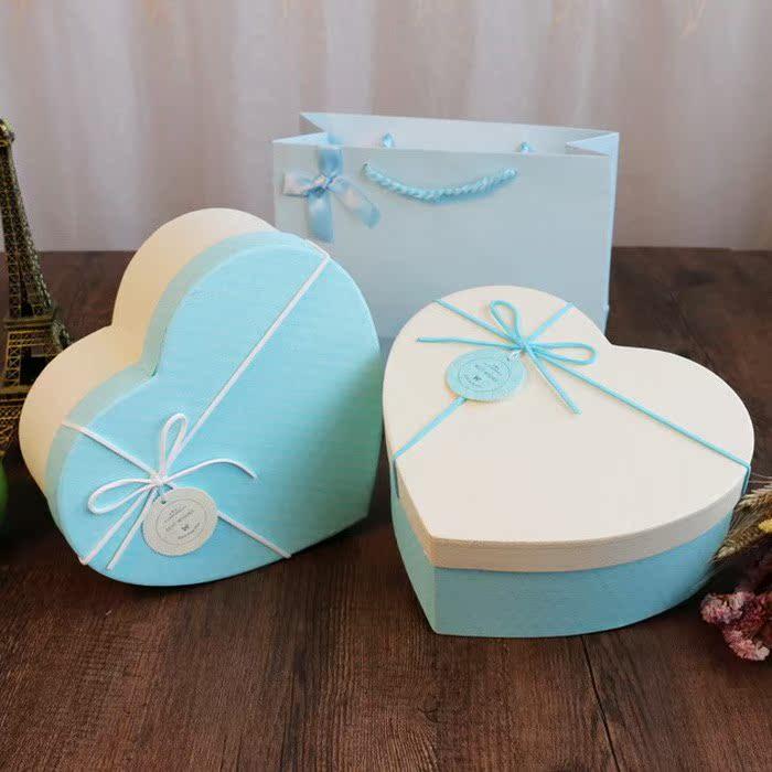 하트 선물 상자 포장 박스 미니 하트 선물케이스 작은 선물 상자 가방 우편 결혼 사탕 박스 아이디어