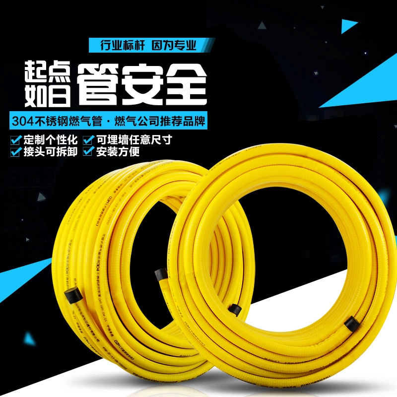 Household gas water heater, electric water heater fittings, general luxurious stainless steel shower hose pipe