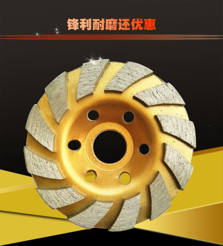 Angle grinder, diamond grinding piece, diamond alloy grinding wheel, glass ceramic tile slice polishing 100*