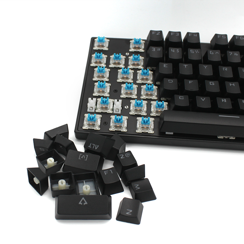 Metal keyboard backlight green black shaft game gaming shaft shaft shaft red tea hand mechanical keyboard