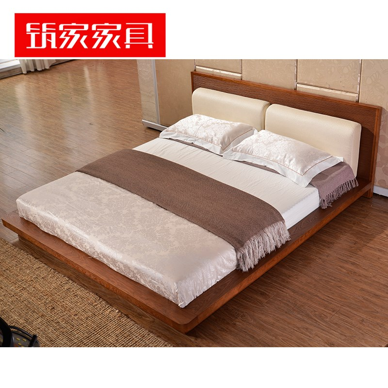 Southeast areca color tatami bed 1.5m1.8 meter bed bed double Japanese Short bed furniture