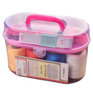 居家手提多功能便携式家用针线盒针线包手缝线缝补套装