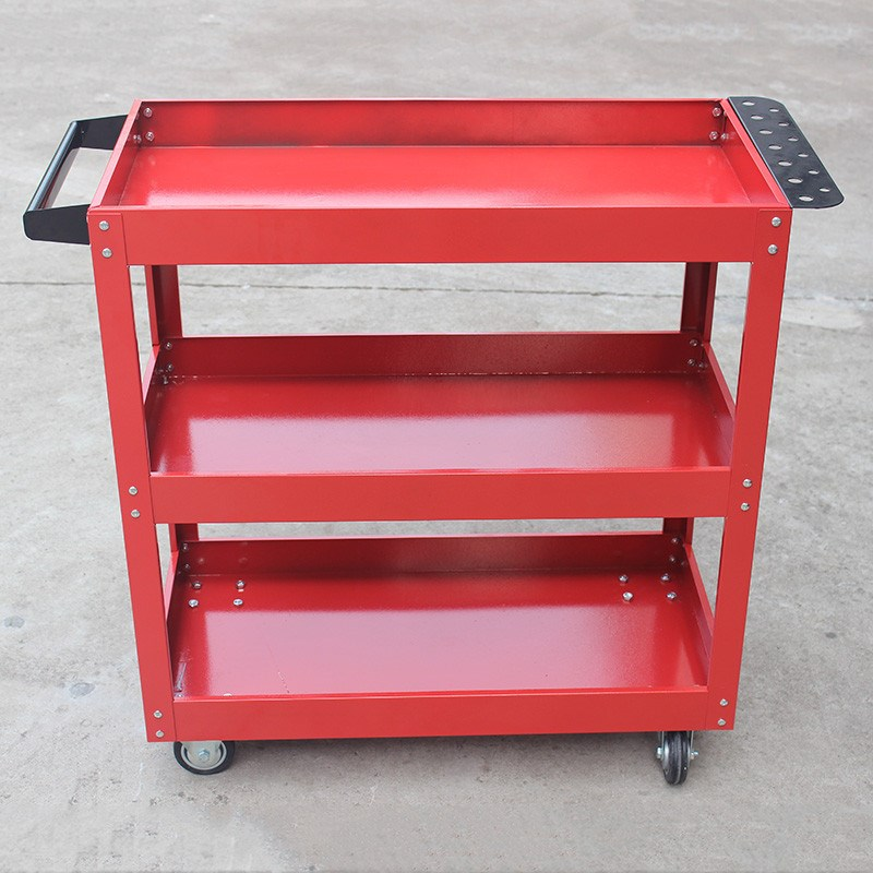 The hand push tool car three layer thickened mobile multifunctional auto parts repair workshop dedicated cabinet shelf hardware