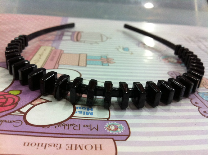 His real hair and comb type Korean language HEADBAND / card / band / head / head ring buckle 0353