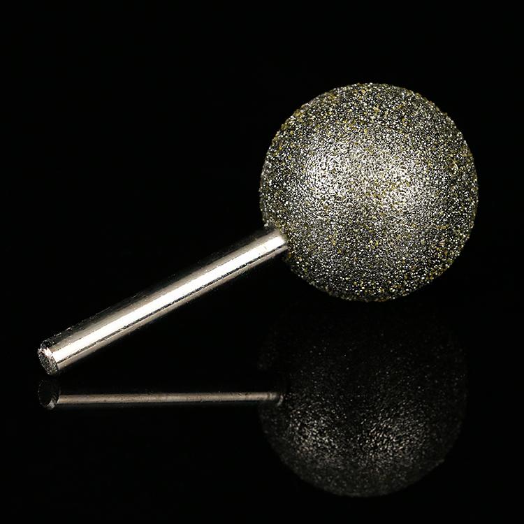 6MM柄ダイヤモンドといしヘッド団子形ダイヤモンドといしヘッド磨针石雕めっきダイヤモンドといしヘッド