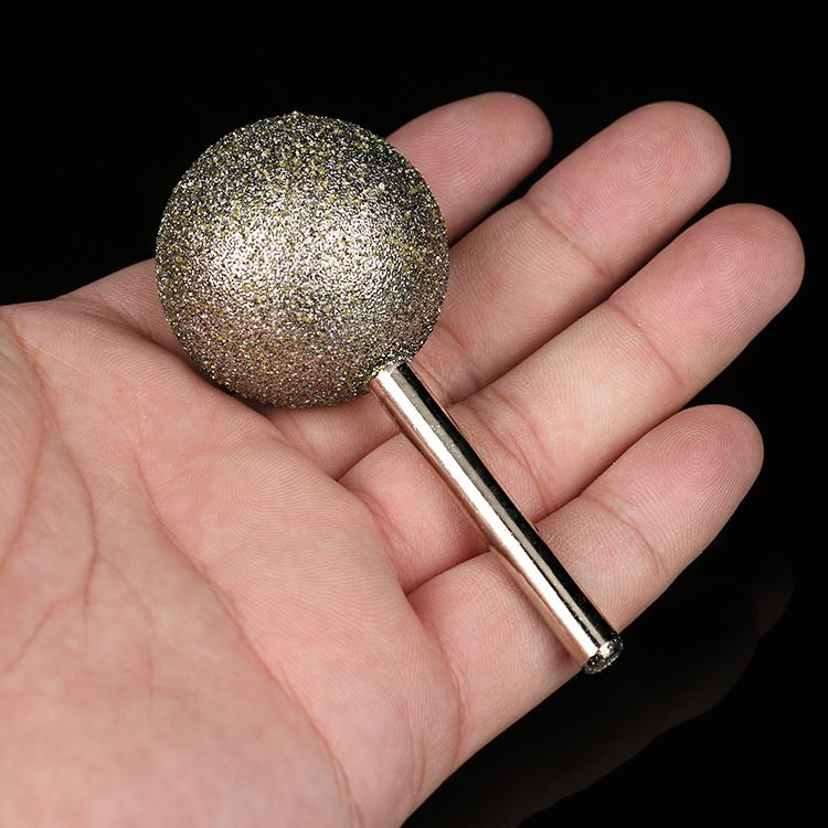 6mm ручки Diamond голову сферических алмазов голову камень назвали Diamond голову скульптуры потачиванио