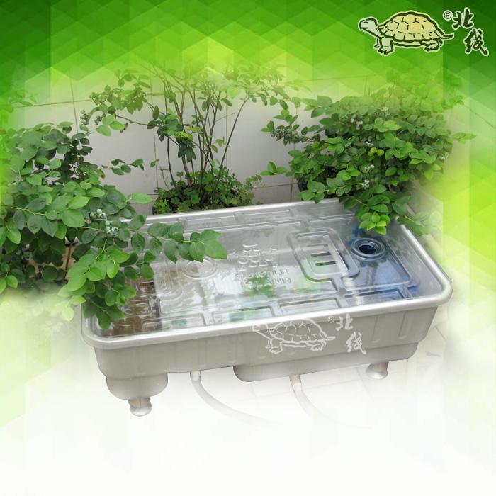 La tortuga galápago de cilindros de gran caja de botellas de plástico ecológico con el cilindro de terraza con piscina cubierta aislante de la Caja de cultivo