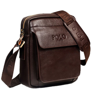 正品软牛皮男包斜挎包潮流韩版男士单肩包斜跨皮包休闲迷你小包包