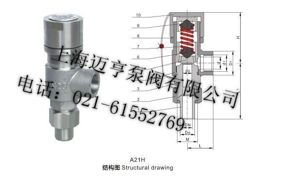A21F/H-16CA21F/H-25CA21F/H-40C Mola de válvula de segurança de Abertura de ROSCA externa Dn40