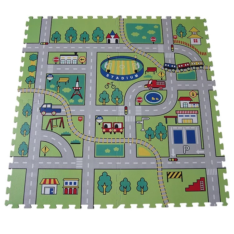 Foam mat bedroom floor mat puzzle tatami thickened stitching of infant climbing crawling pad 60