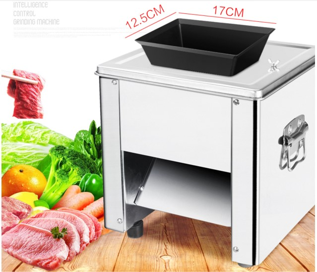 Commercial kitchen slicer thickened potatoes radish fruits and vegetables automatic stainless steel chopping machine electric slice