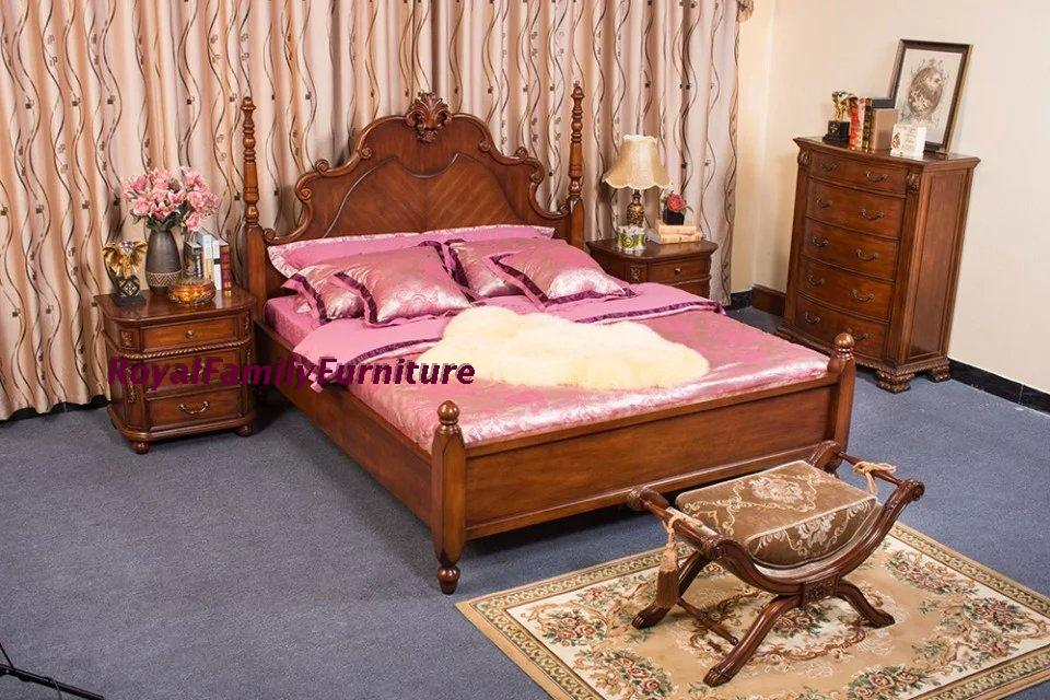 Special price solid wood bed factory direct selling American style, old man room bed double bed 1.8 meters bed