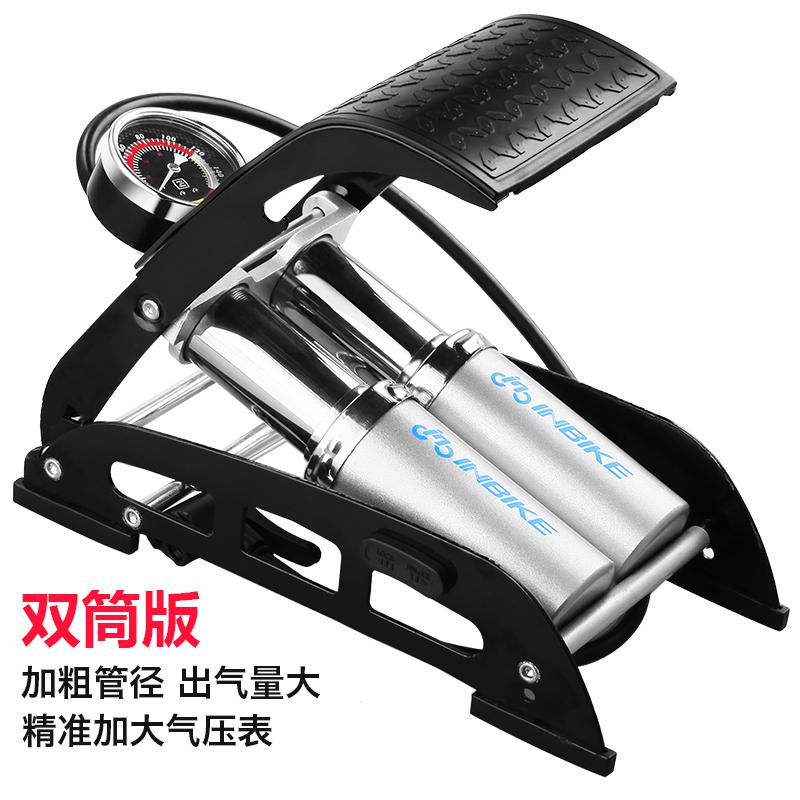 ปั๊มแรงดันสูงปั๊มปั๊มเท้าเหยียบแบบพกพารถยนต์มอเตอร์ไซค์ไฟฟ้าจักรยาน 5p0o4