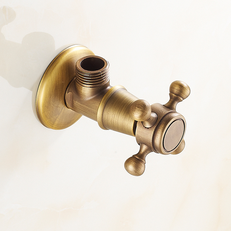 Shipping European triangle valve copper thick brass valve mixing valve angle valve valve inlet valve
